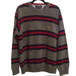 Tommy Hilfiger Men's Retro Striped Sweater EUC